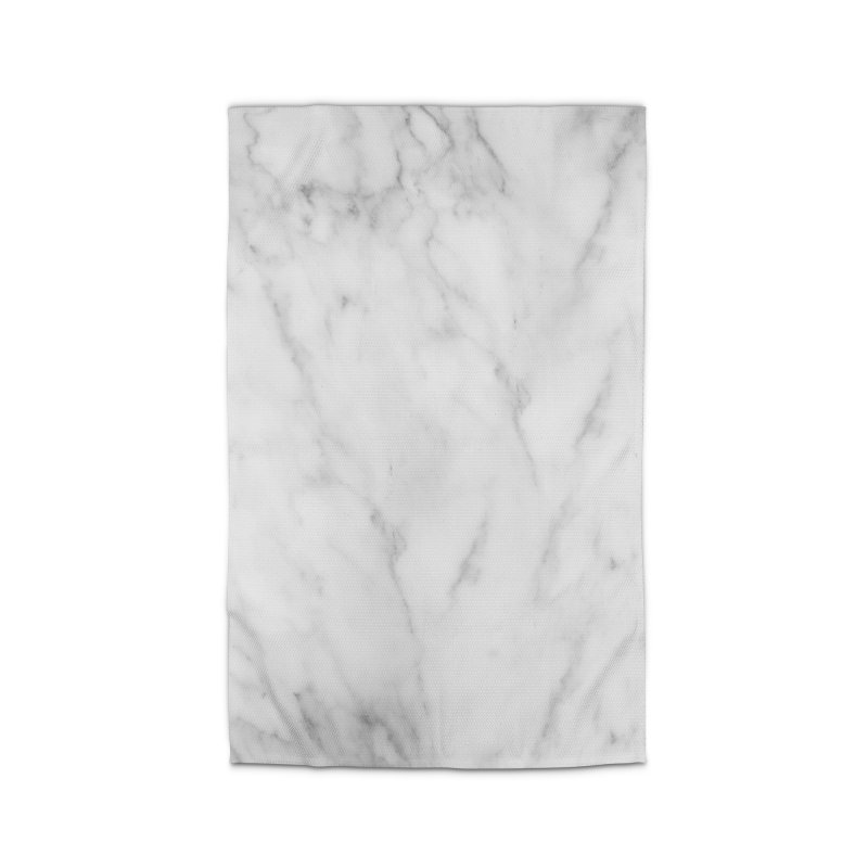 White Grey Marble Home Rug by Lumi