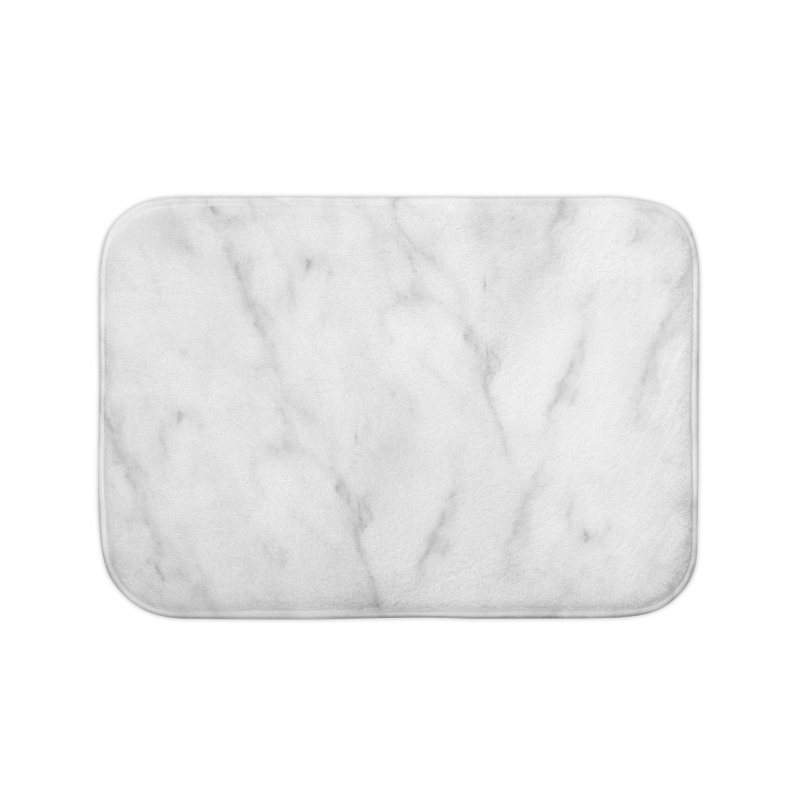 White Grey Marble Home Bath Mat by Lumi