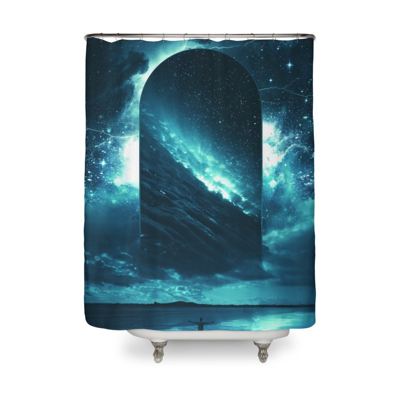 Cosmic Storm Home Shower Curtain by Lumi