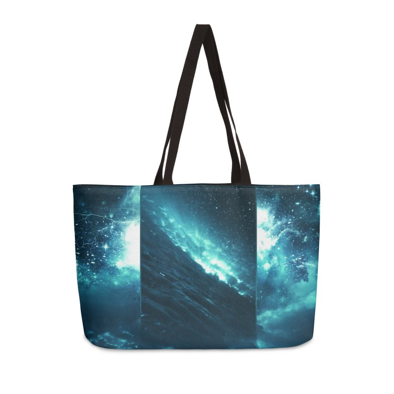 Cosmic Storm Accessories Weekender Bag Bag by Lumi