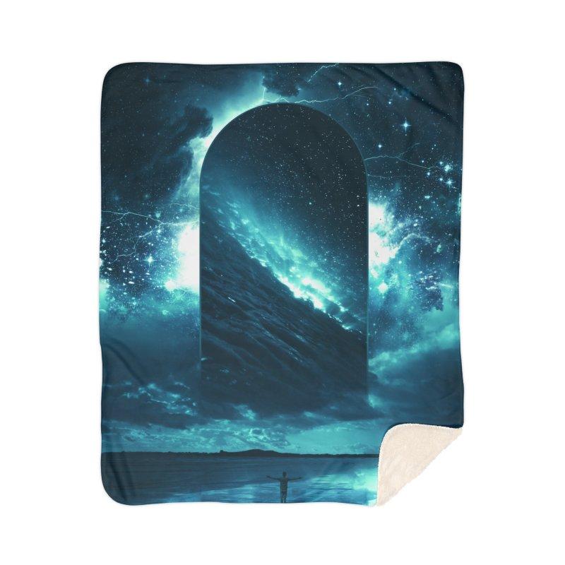 Cosmic Storm Home Sherpa Blanket Blanket by Lumi