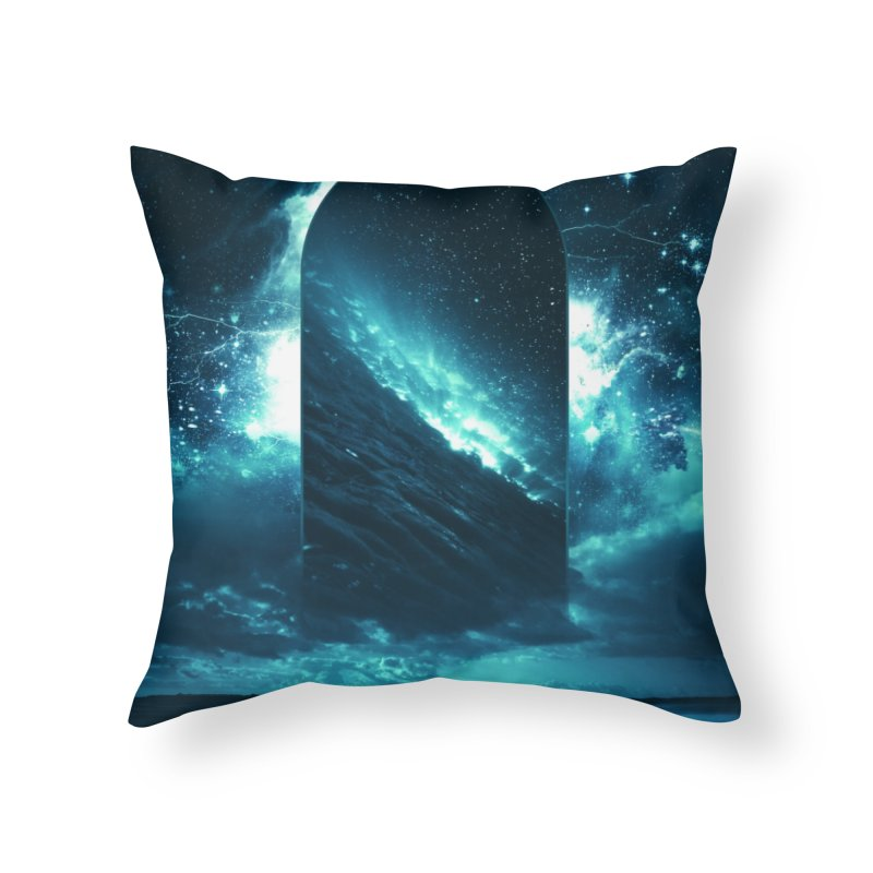 Cosmic Storm Home Throw Pillow by Lumi
