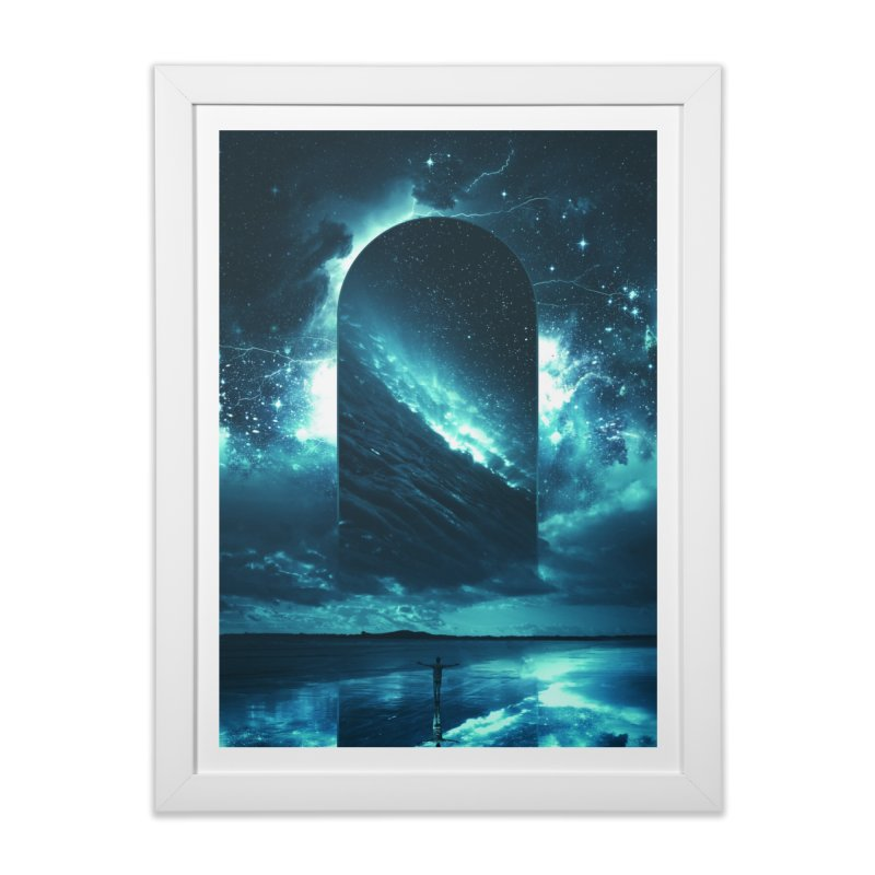 Cosmic Storm Home Framed Fine Art Print by Lumi
