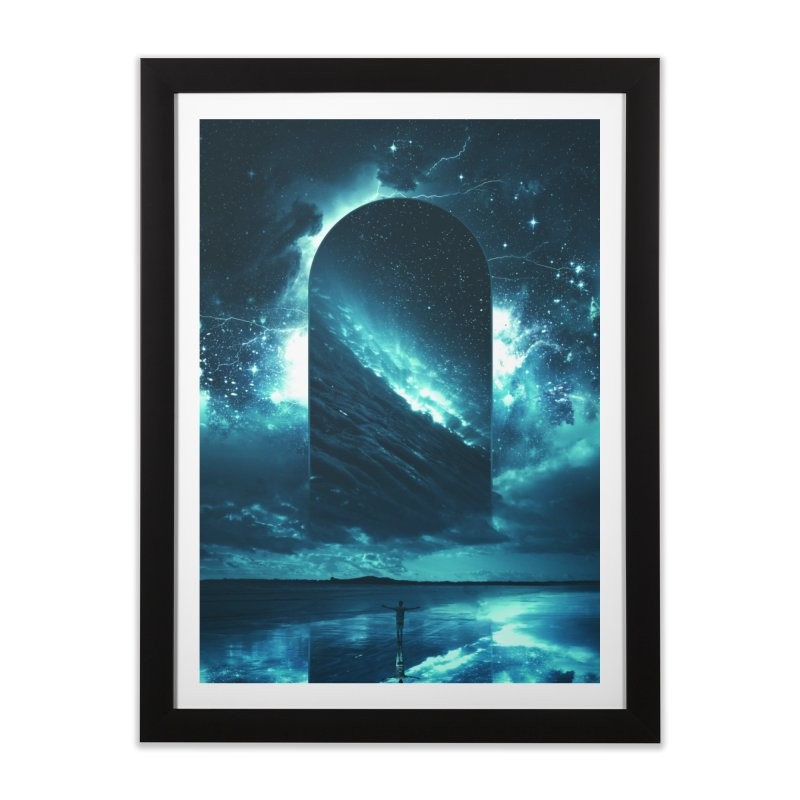 Cosmic Storm in Framed Fine Art Print Black by Lumi