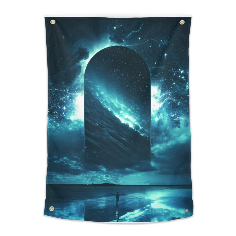 Cosmic Storm Home Tapestry by Lumi