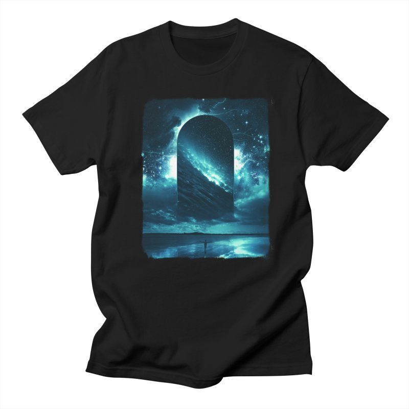 Cosmic Storm in Men's Regular T-Shirt Black by Lumi