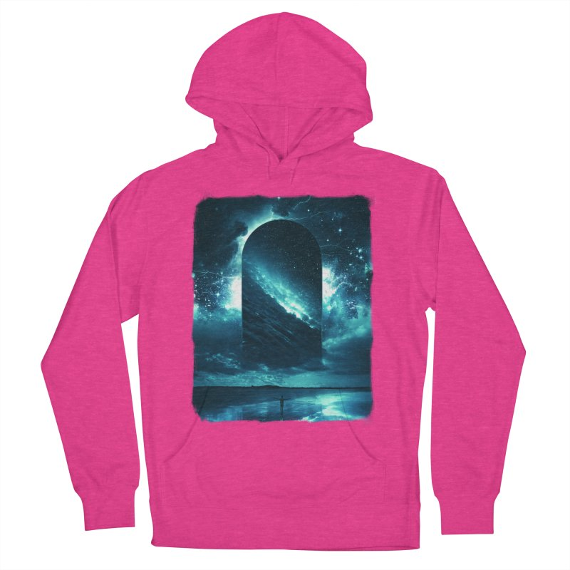 Cosmic Storm Men's French Terry Pullover Hoody by Lumi