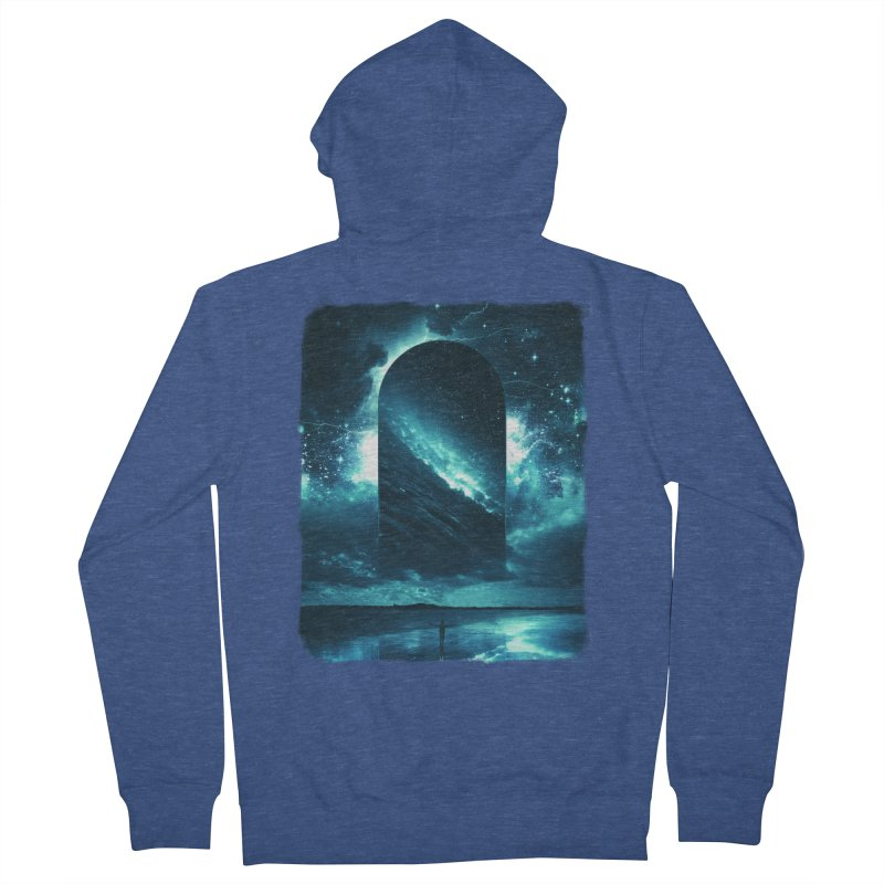 Cosmic Storm Men's French Terry Zip-Up Hoody by Lumi