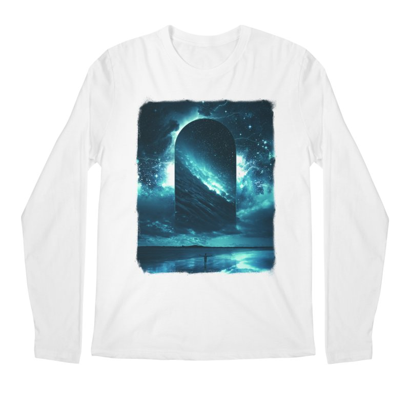 Cosmic Storm Men's Regular Longsleeve T-Shirt by Lumi