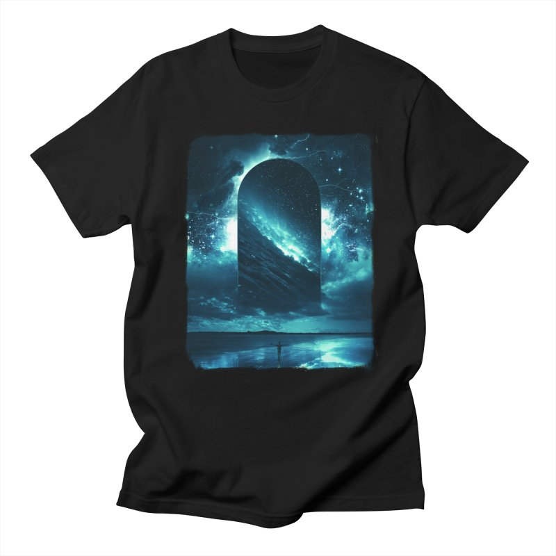 Cosmic Storm in Men's T-Shirt Black by Lumi
