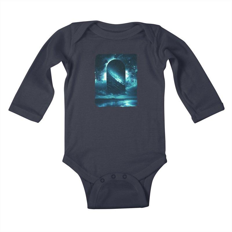 Cosmic Storm Kids Baby Longsleeve Bodysuit by Lumi