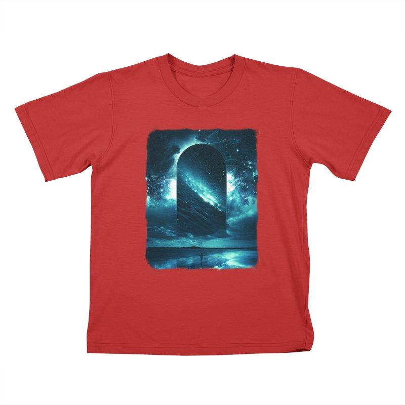 Cosmic Storm Kids T-Shirt by Lumi