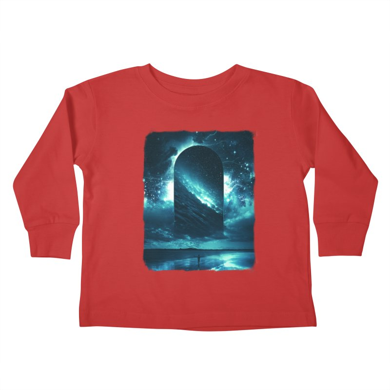 Cosmic Storm Kids Toddler Longsleeve T-Shirt by Lumi