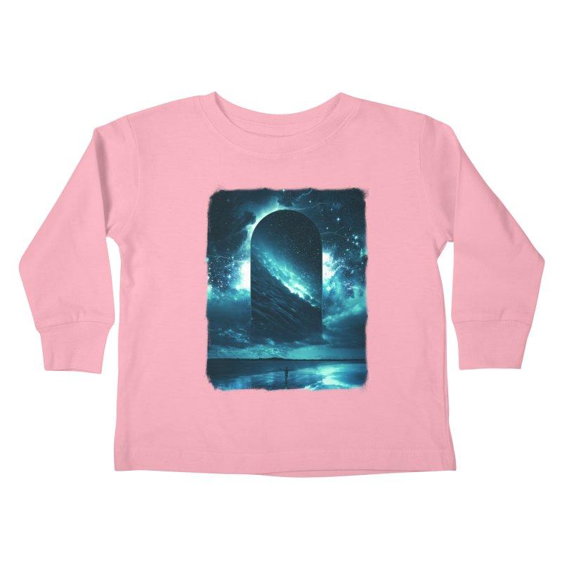 Cosmic Storm Kids Toddler Longsleeve T-Shirt by Lumi