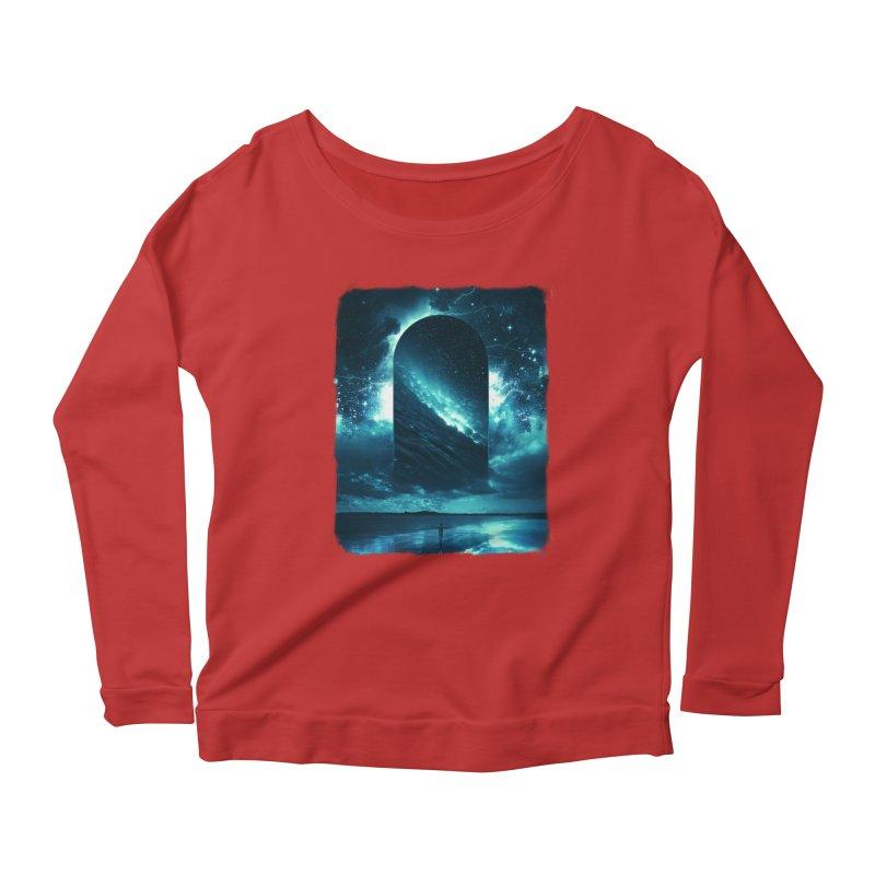 Cosmic Storm Women's Scoop Neck Longsleeve T-Shirt by Lumi