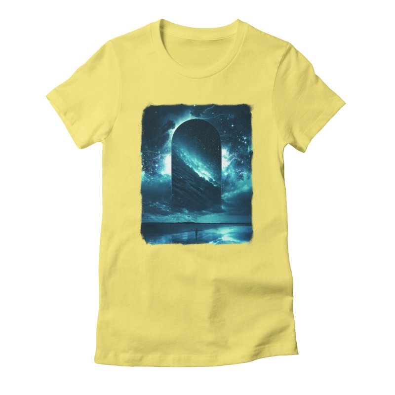 Cosmic Storm Women's Fitted T-Shirt by Lumi