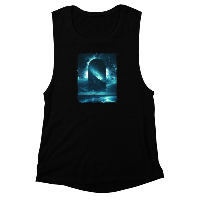Cosmic Storm Women's Muscle Tank by Lumi