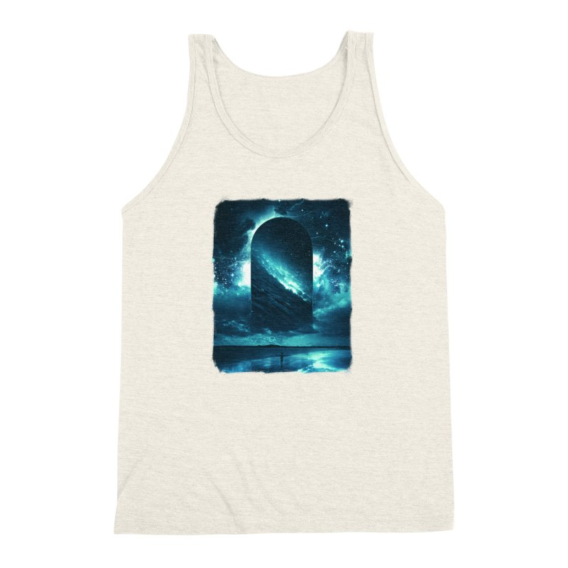 Cosmic Storm Men's Triblend Tank by Lumi