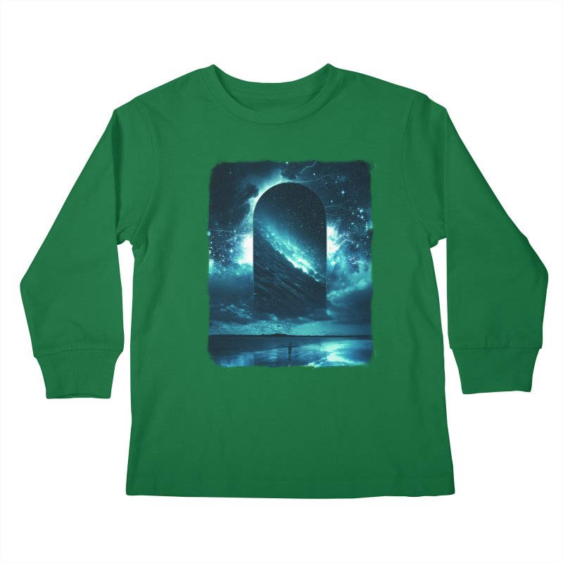 Cosmic Storm Kids Longsleeve T-Shirt by Lumi
