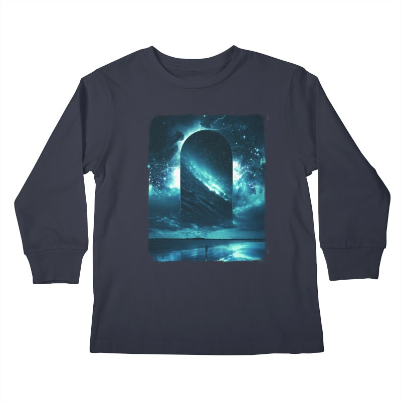 Cosmic Storm Kids Longsleeve T-Shirt by Lumi