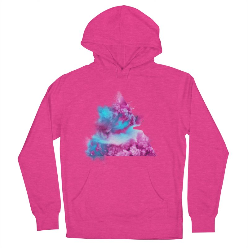 Geometric Women's French Terry Pullover Hoody by Lumi