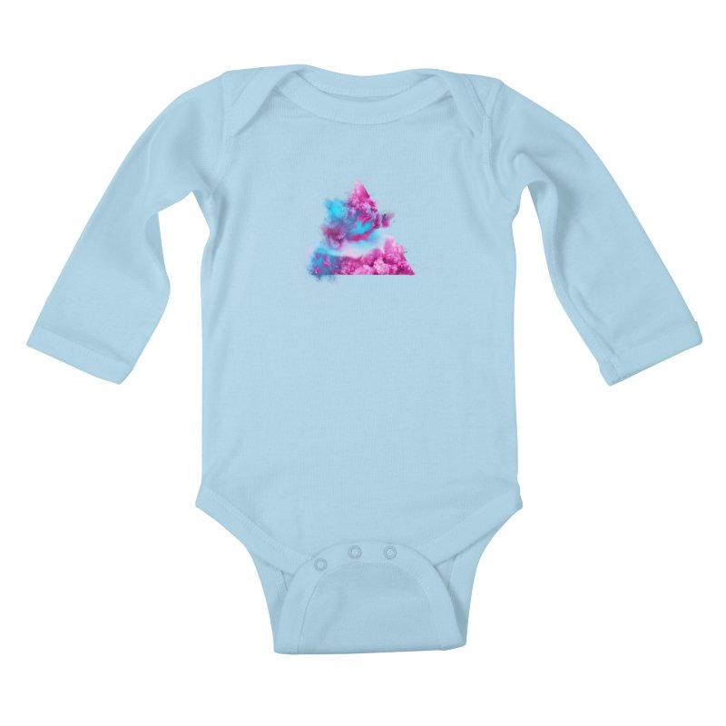 Geometric Kids Baby Longsleeve Bodysuit by Lumi