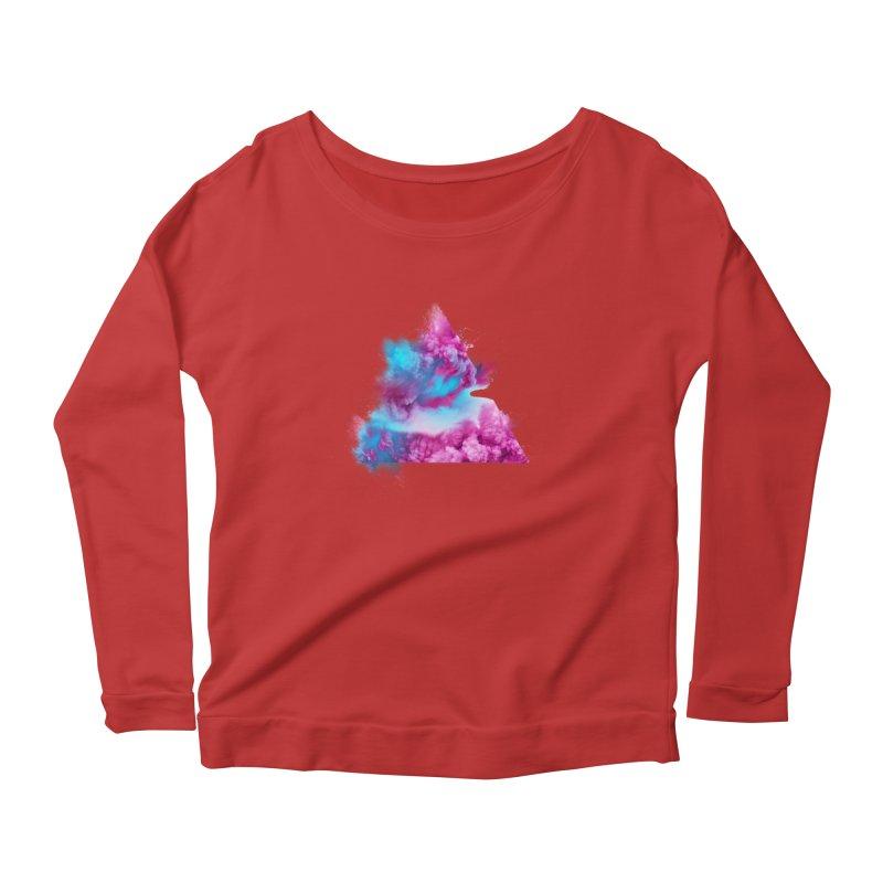 Geometric Women's Scoop Neck Longsleeve T-Shirt by Lumi