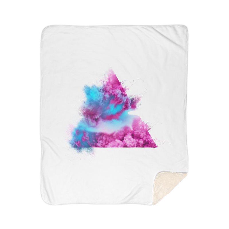 Geometric Home Sherpa Blanket Blanket by Lumi