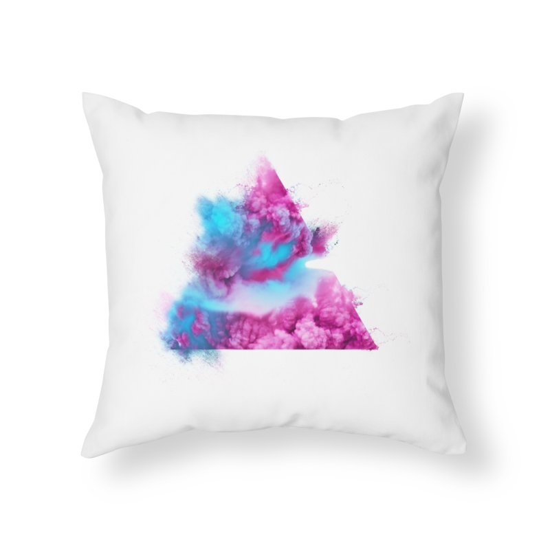 Geometric Home Throw Pillow by Lumi
