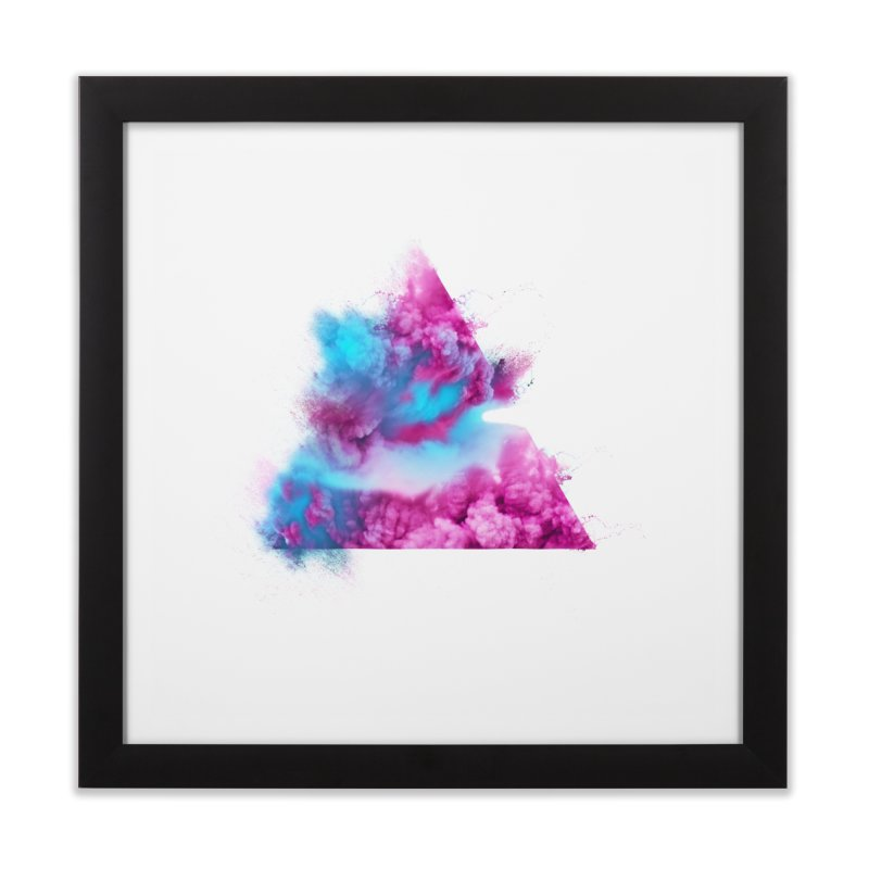 Geometric Home Framed Fine Art Print by Lumi