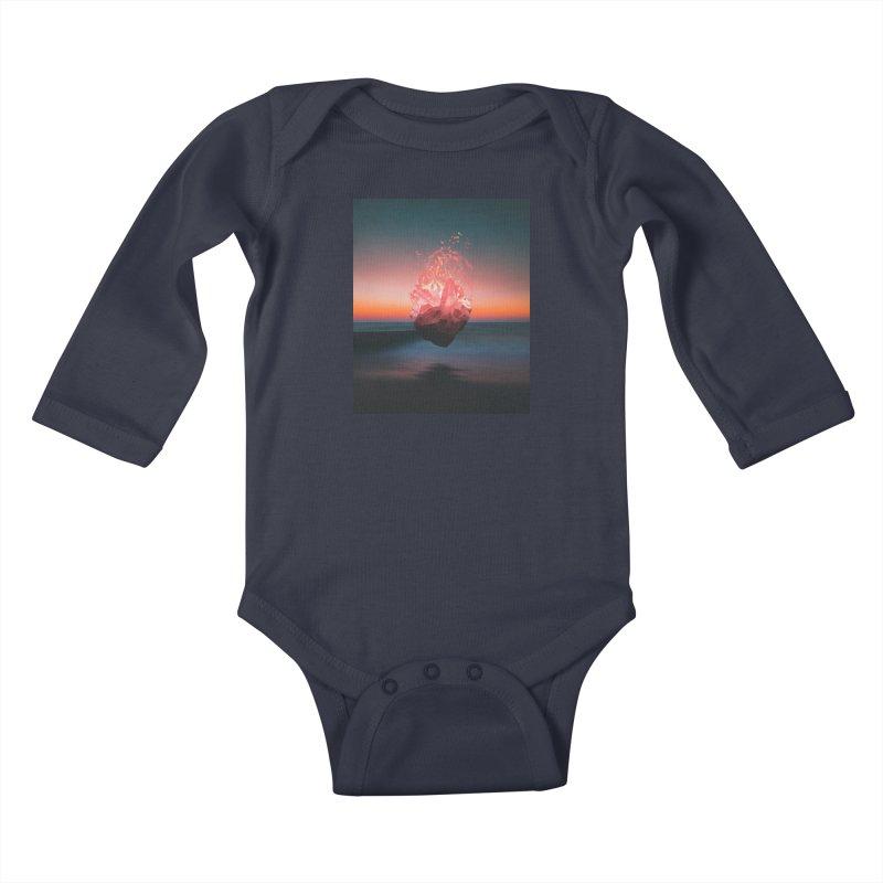 Fabian's Heart Kids Baby Longsleeve Bodysuit by Lumi