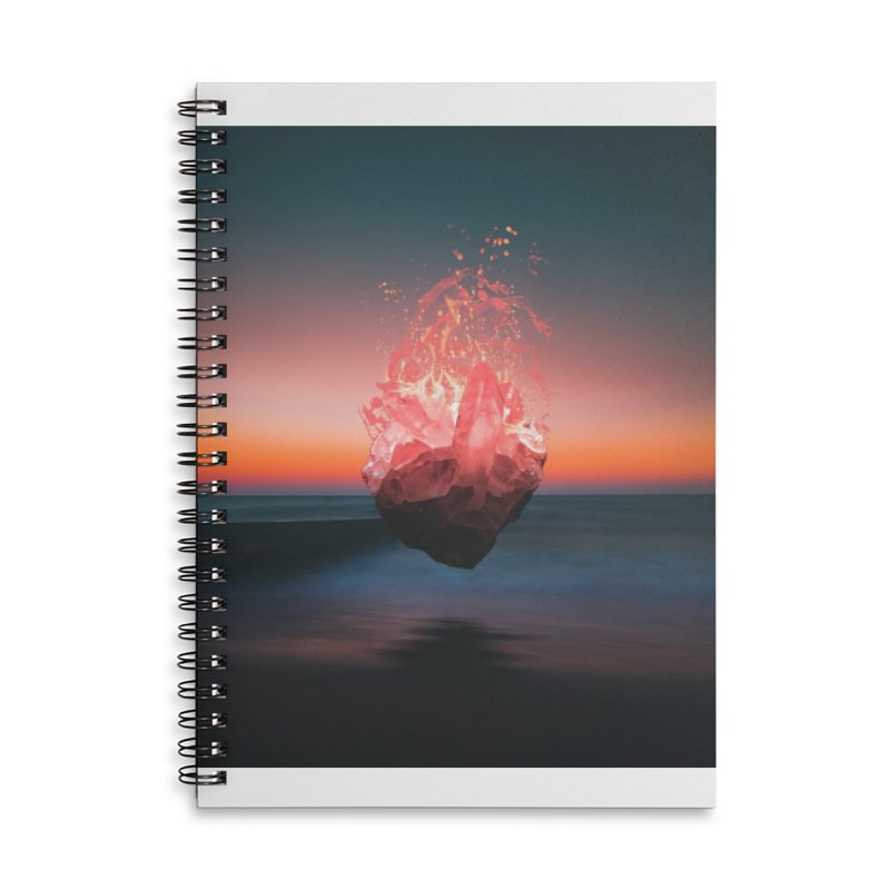 Fabian's Heart Accessories Lined Spiral Notebook by Lumi