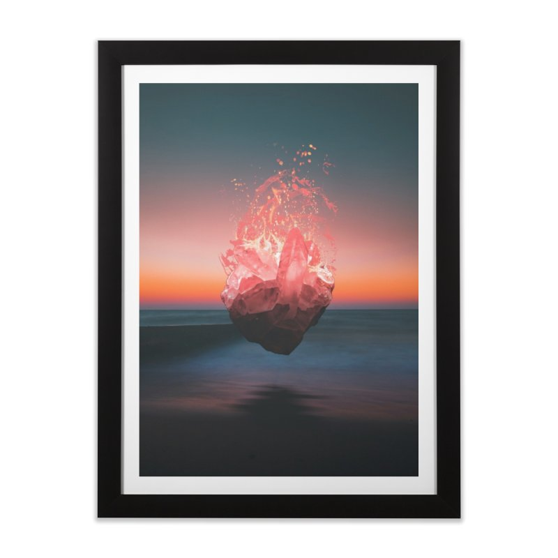 Fabian's Heart in Framed Fine Art Print Black by Lumi