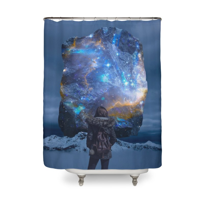 Cosmic Portal Home Shower Curtain by Lumi