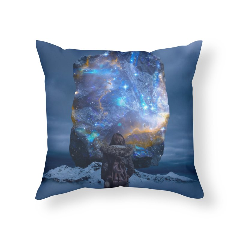 Cosmic Portal Home Throw Pillow by Lumi