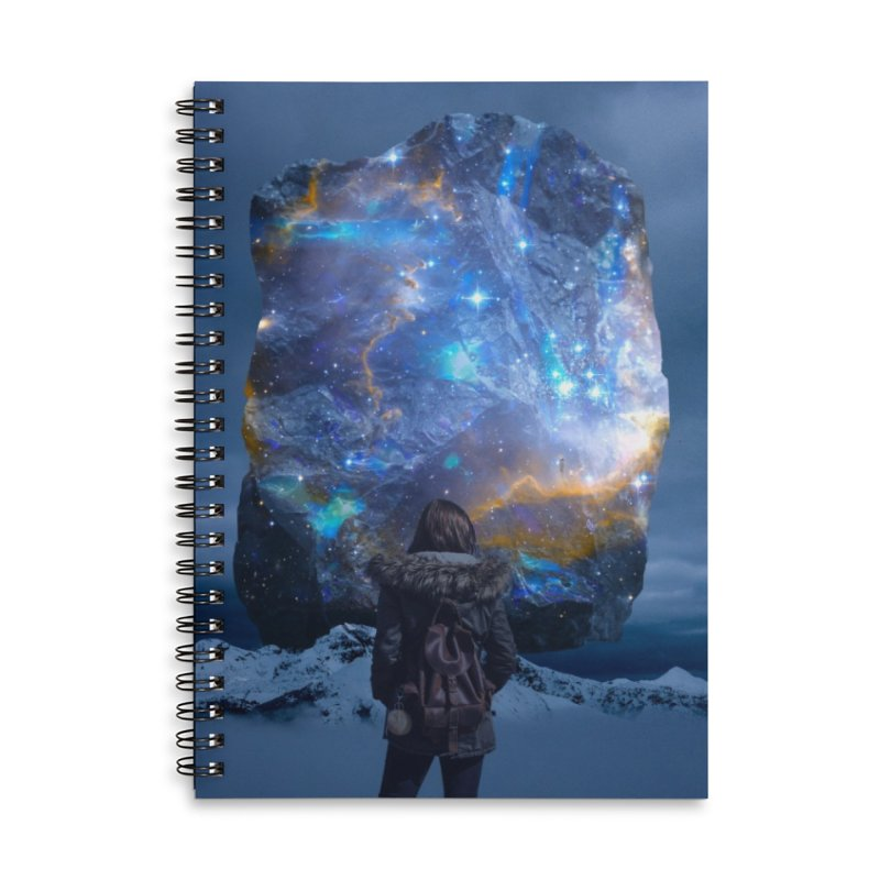 Cosmic Portal Accessories Lined Spiral Notebook by Lumi