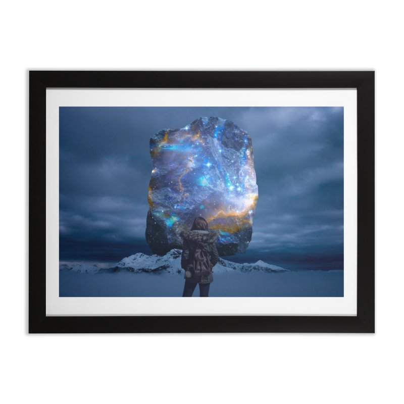 Cosmic Portal Home Framed Fine Art Print by Lumi