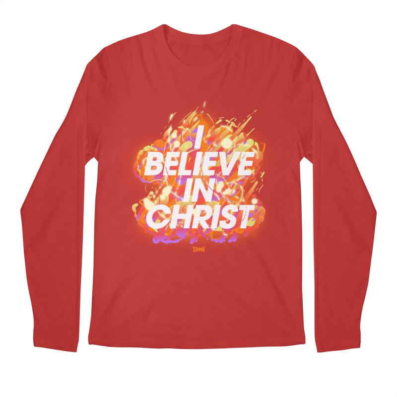 I Believe In Christ Men's Regular Longsleeve T-Shirt by Lumi