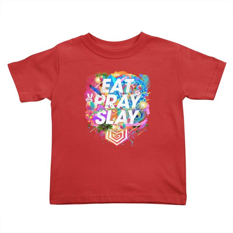 Eat Pray Slay Kids Toddler T-Shirt by Lumi