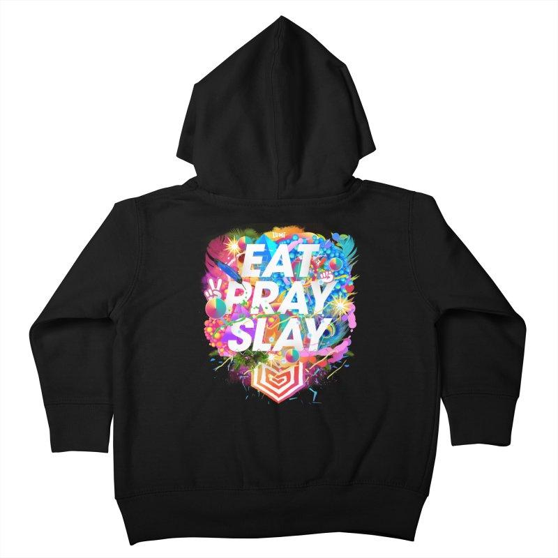 Eat Pray Slay Kids Toddler Zip-Up Hoody by Lumi
