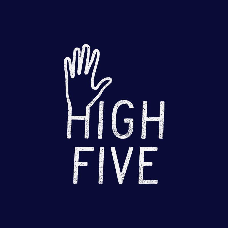 High Five Home Stretched Canvas by lunchboxbrain's Artist Shop