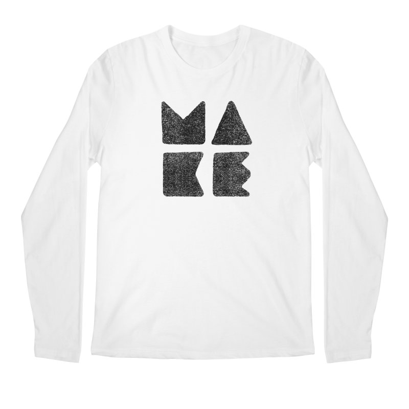 MAKE Men's Regular Longsleeve T-Shirt by lunchboxbrain's Artist Shop
