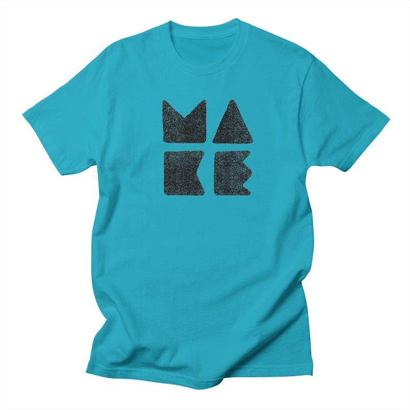 MAKE Men's Regular T-Shirt by lunchboxbrain's Artist Shop