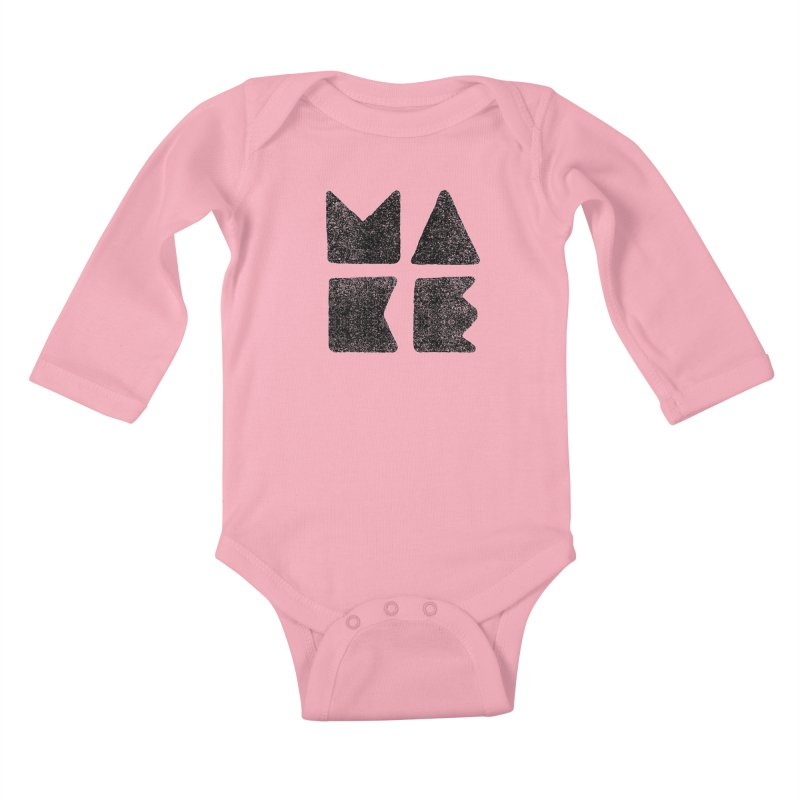 MAKE Kids Baby Longsleeve Bodysuit by lunchboxbrain's Artist Shop