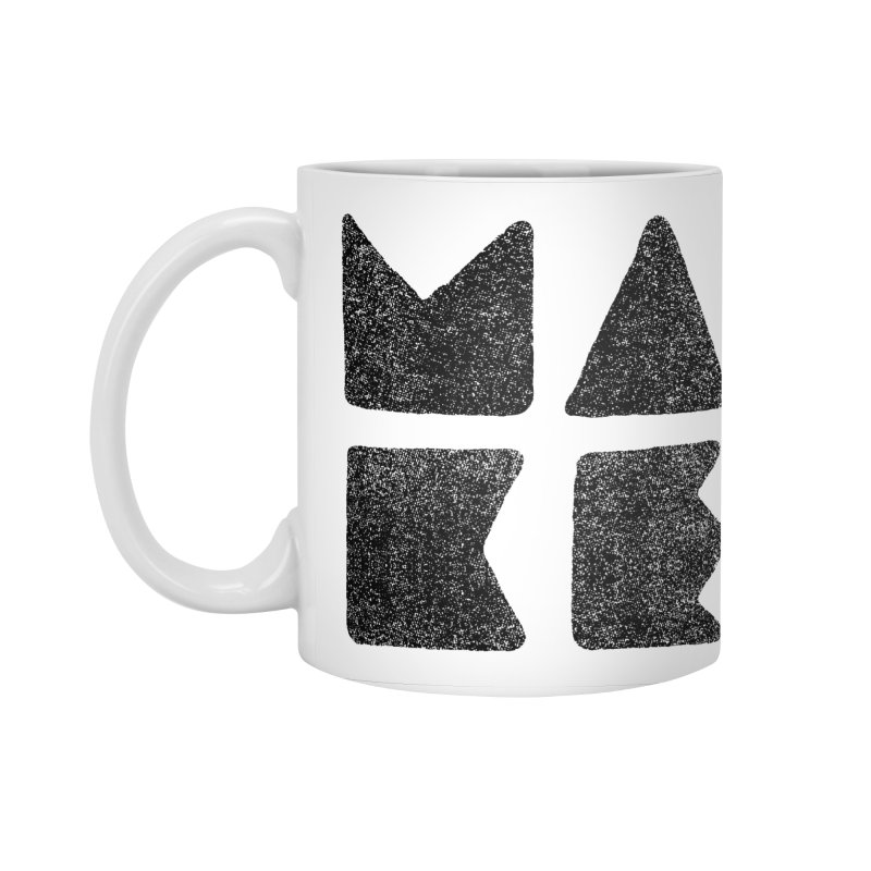 MAKE Accessories Standard Mug by lunchboxbrain's Artist Shop