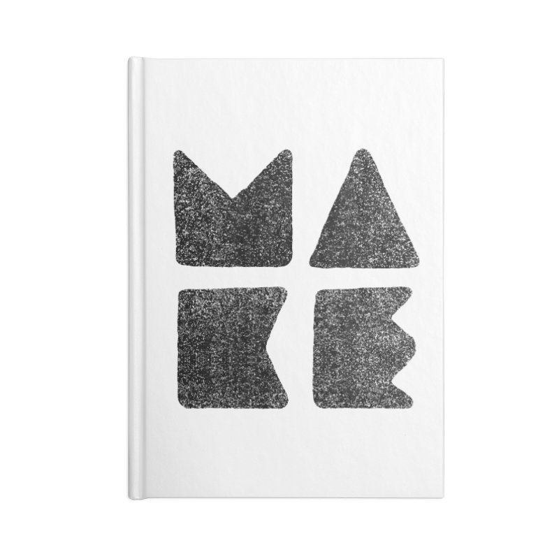 MAKE Accessories Blank Journal Notebook by lunchboxbrain's Artist Shop
