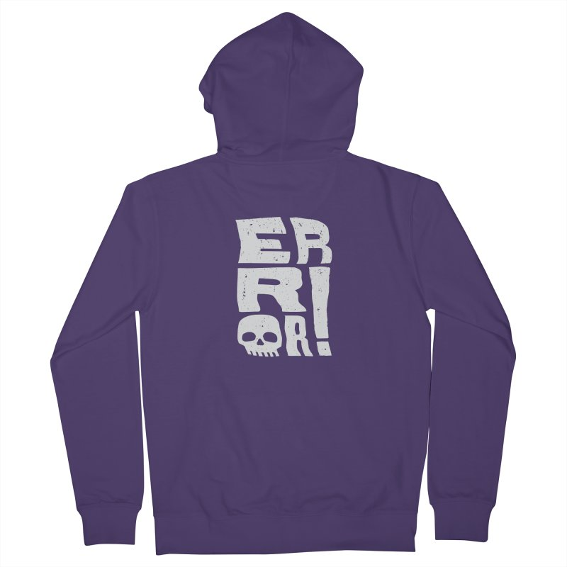 Error! Women's French Terry Zip-Up Hoody by lunchboxbrain's Artist Shop