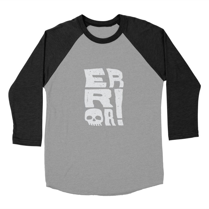 Error! Men's Baseball Triblend Longsleeve T-Shirt by lunchboxbrain's Artist Shop