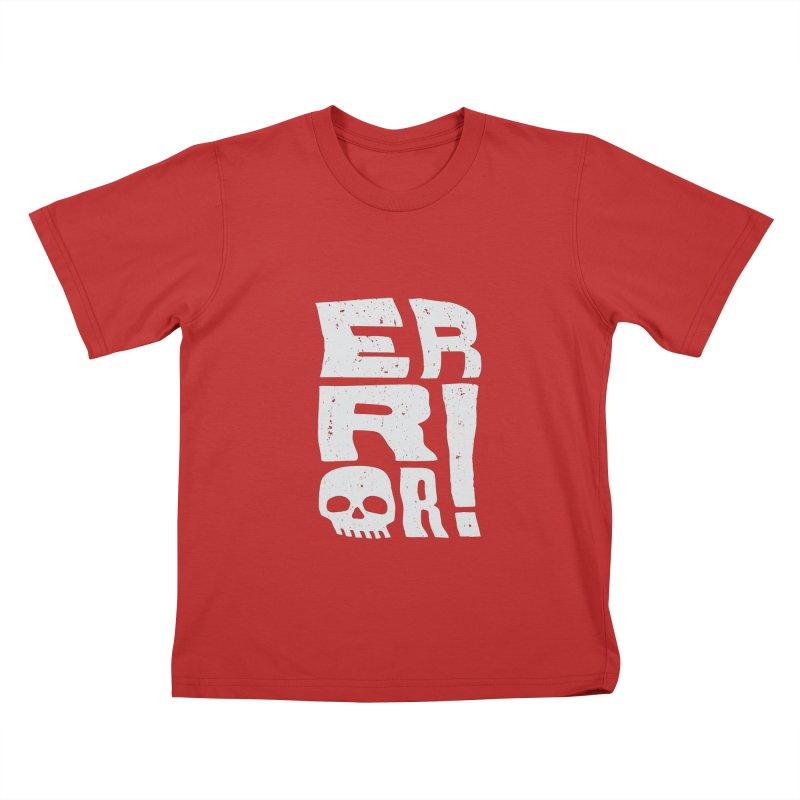 Error! Kids T-Shirt by lunchboxbrain's Artist Shop