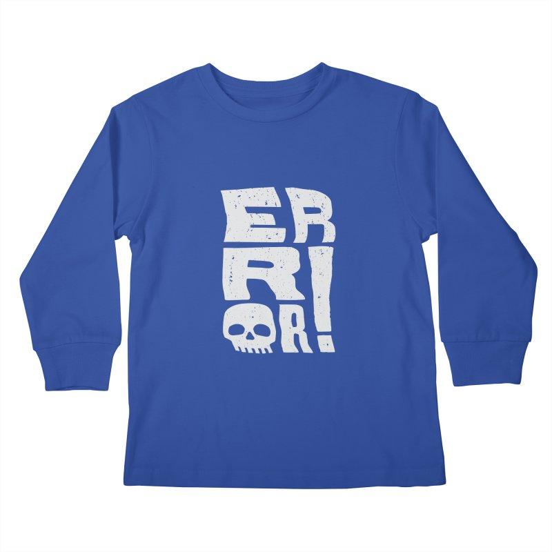 Error! Kids Longsleeve T-Shirt by lunchboxbrain's Artist Shop